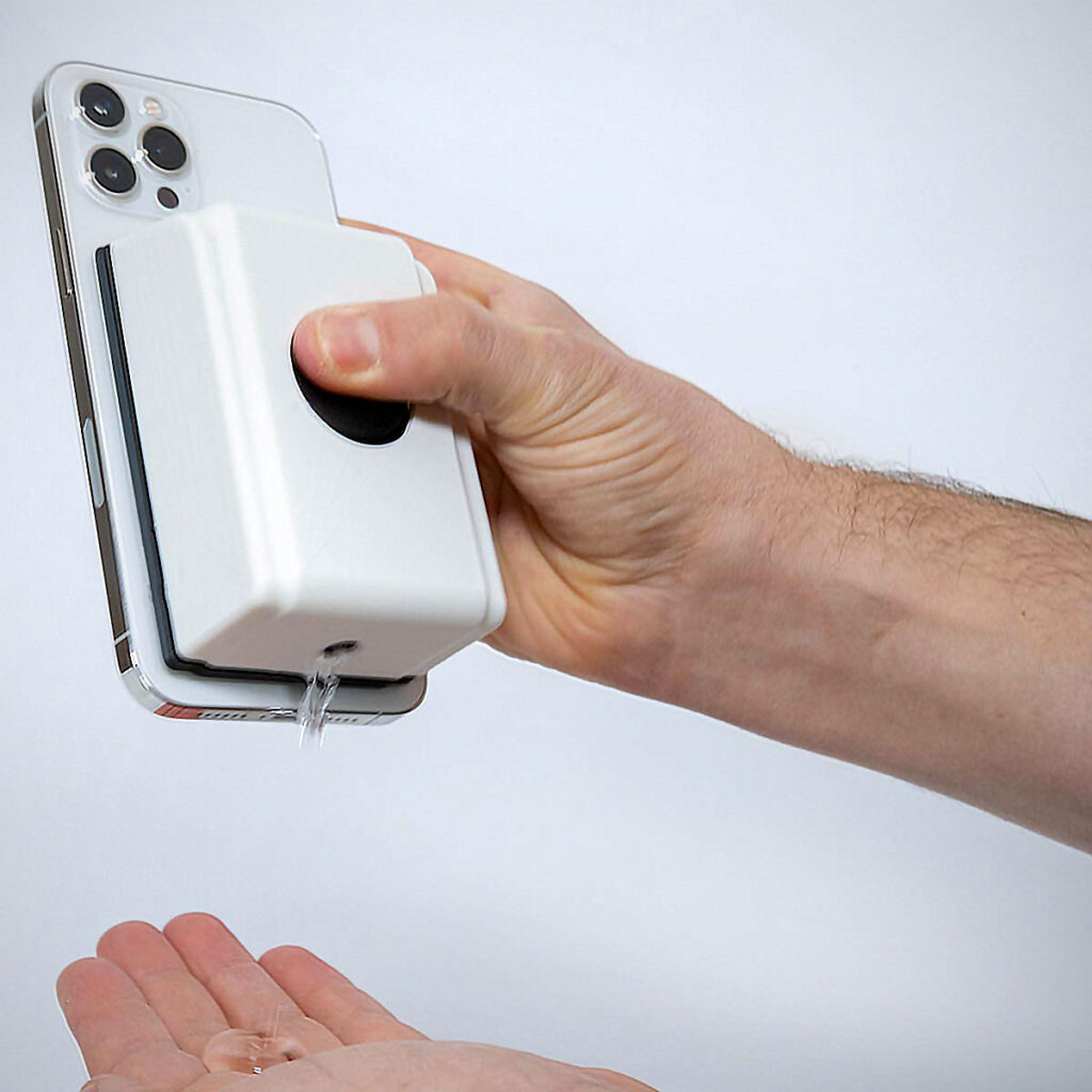 The Hook Shot And MagSafe Sanitizer by Unnecessary Inventions