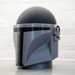 You Can Masquerade Your Echo Dot As <em>The Mandalorian</em> Helmet With This 3D Printed Stand