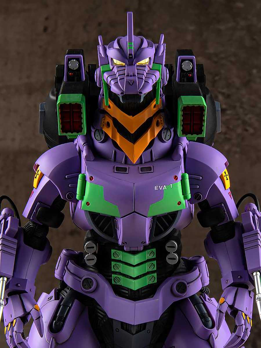 Aoshima Godzilla x Evangelion Unit-01 Model Kit Images