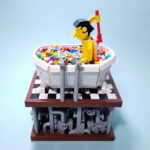 LEGO Kinetic Art Of A Person Bathing In LEGO Bricks Is Awesome And Fun