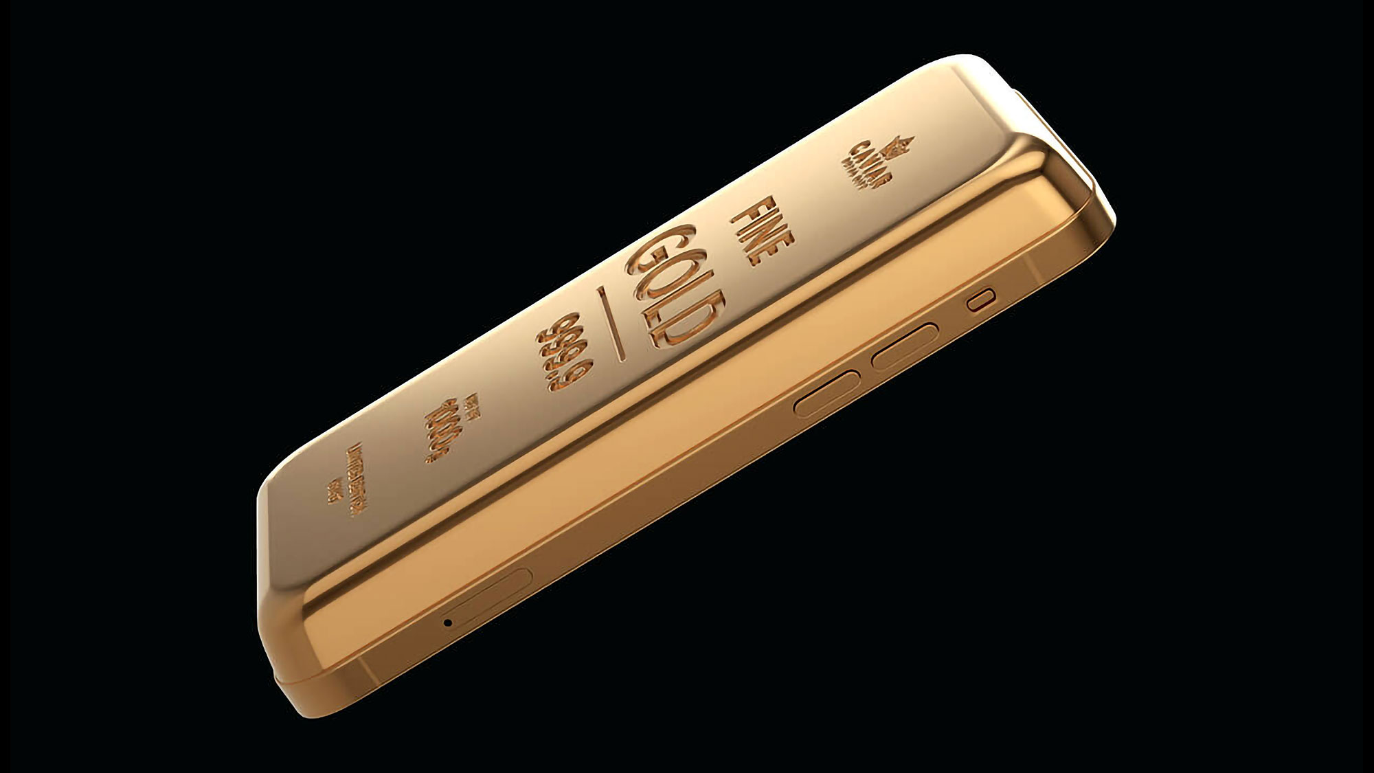 Caviar Goldphone Solid Gold Bar With Phone Function