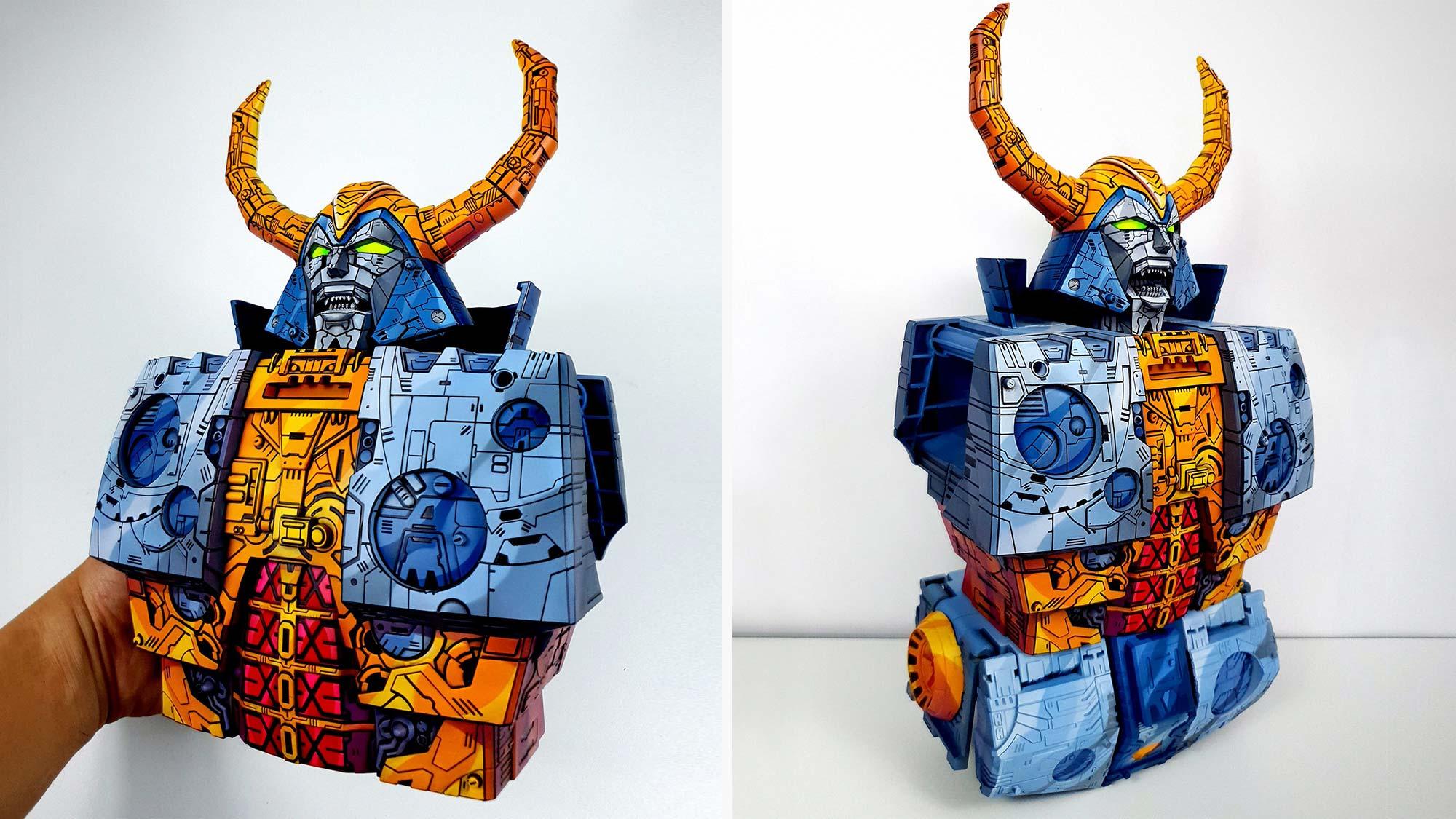 Custom Cel-shaded HasLab Transformers Unicron