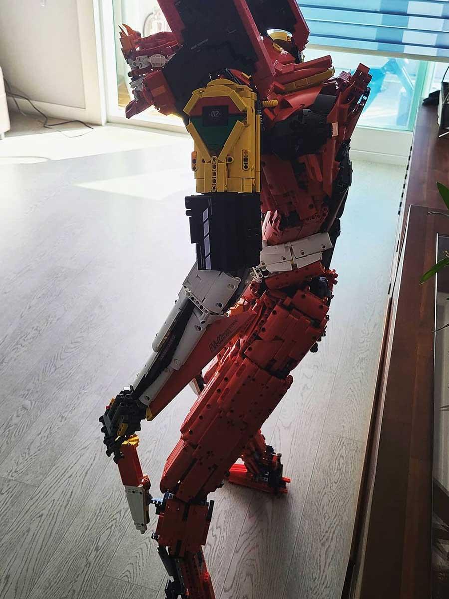 Custom LEGO Technic Evangelion Unit 02 by Seonghoon Park