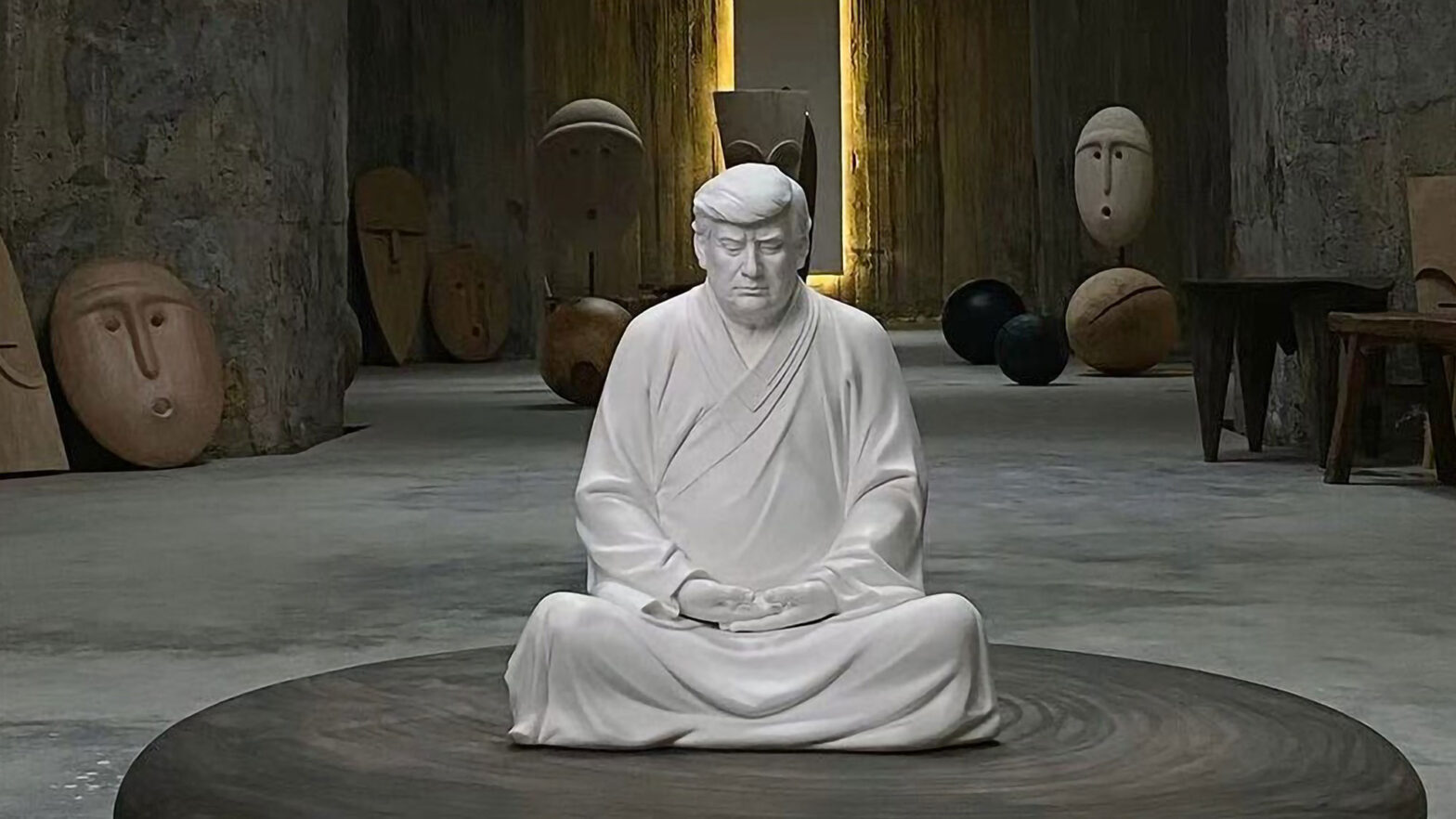 Donald Trump Buddha Statue in China