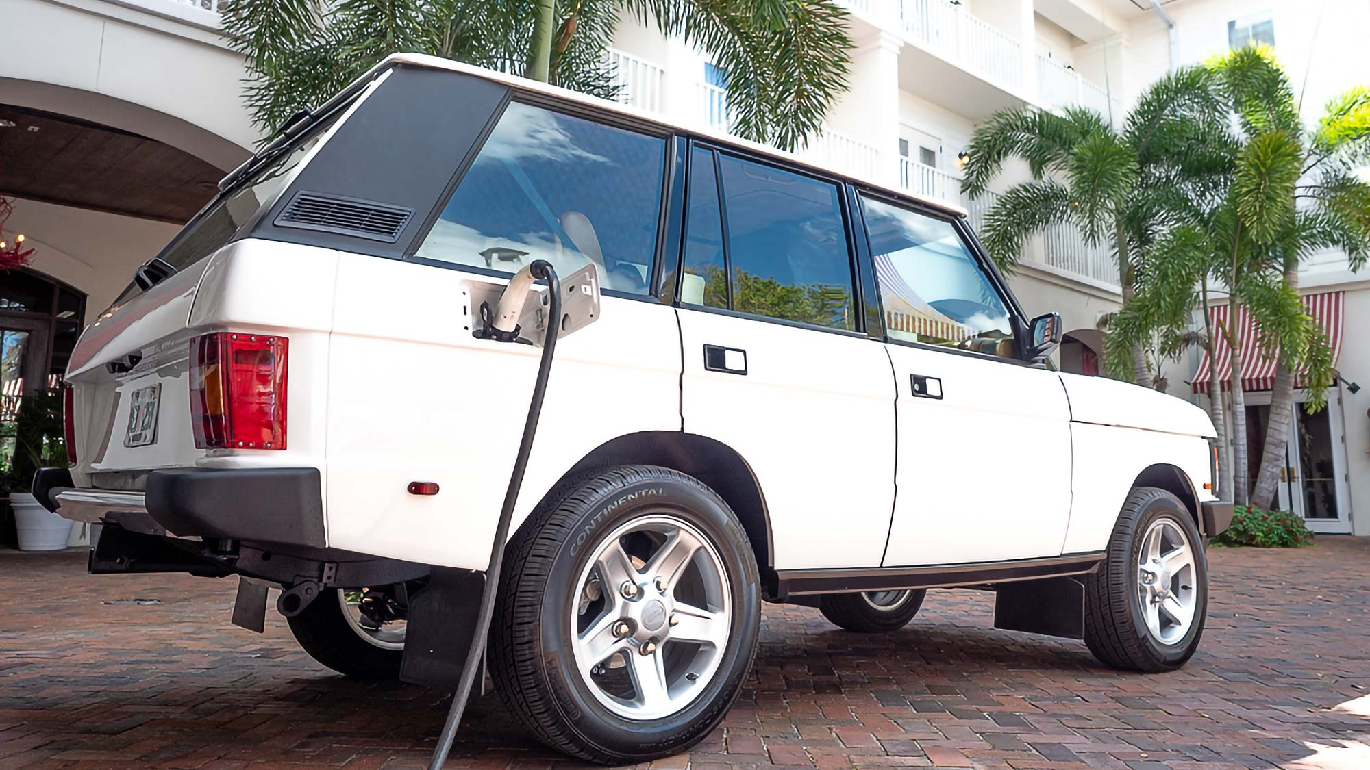 E.C.D. Automotive Design Tesla-powered Range Rover Classic