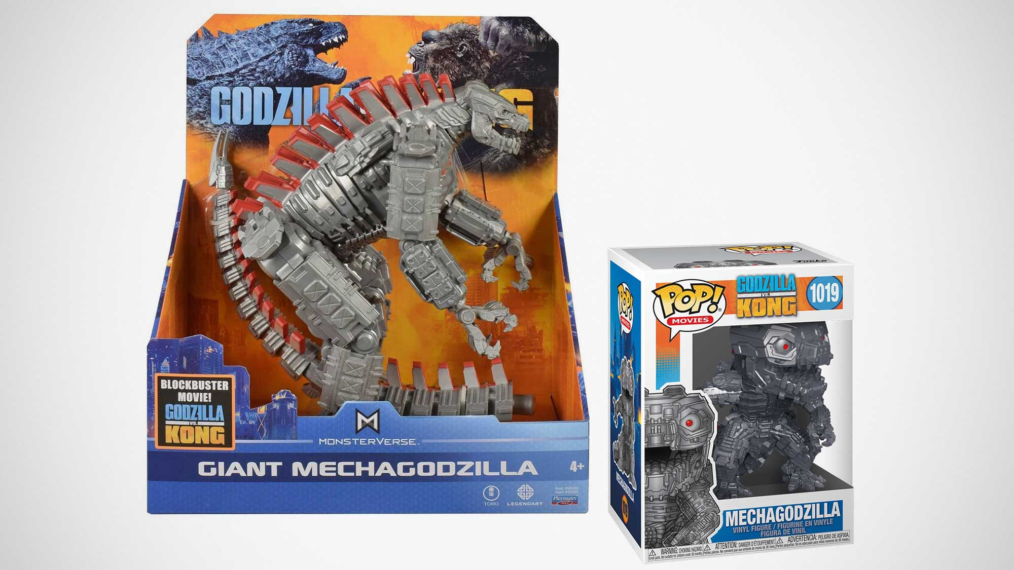 Funko and Playmates Mechagodzilla Toys