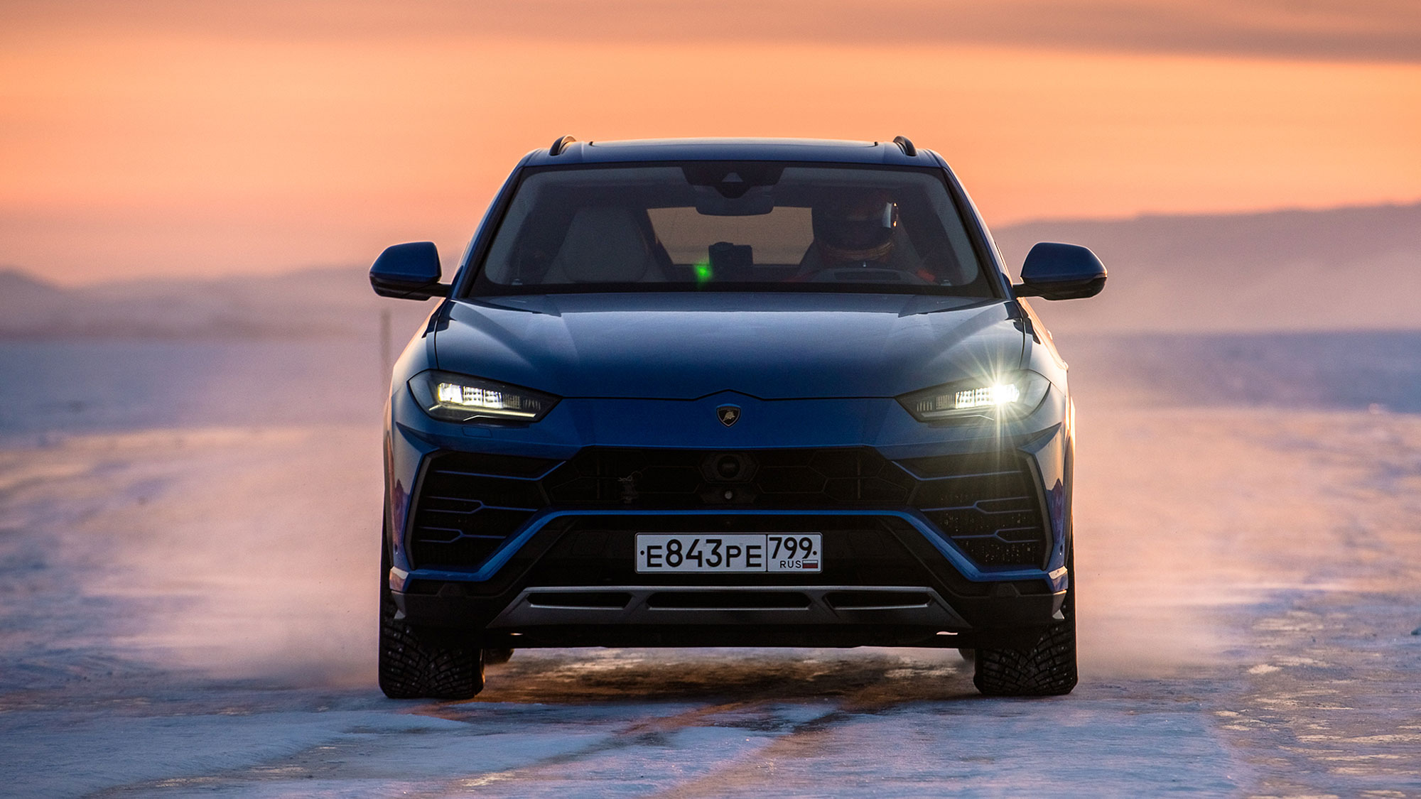Lamborghini Urus Super SUV Sets High-speed Record On Ice