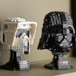Darth Vader And Scout Trooper Joins The LEGO Buildable Helmet Collection