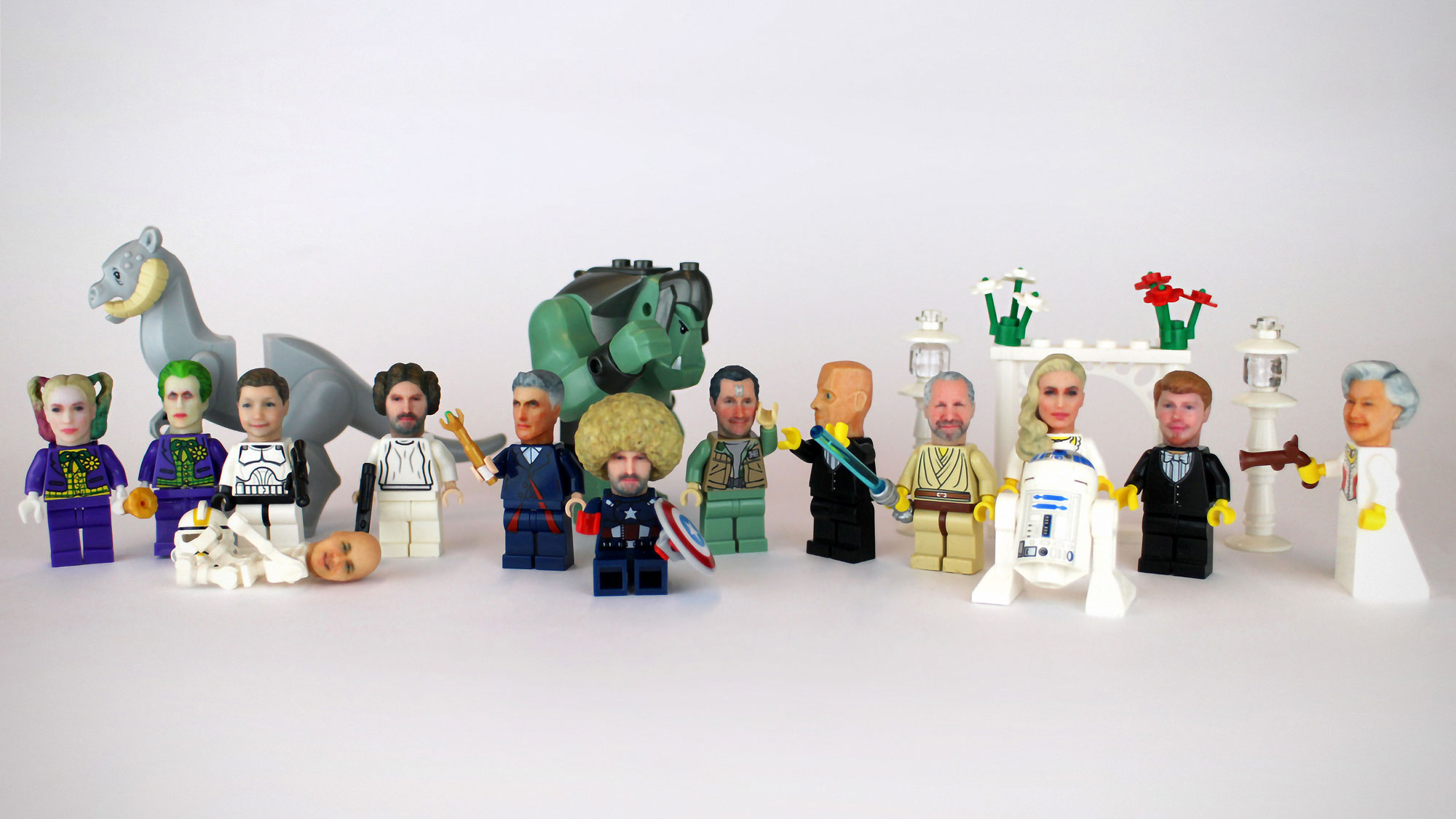 Personalized Minifigure with 3D Printed Personalized Head