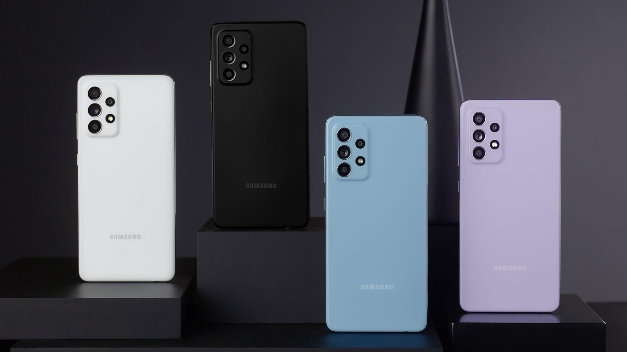 Samsung Galaxy A52, A52 5G and A72 Smartphones