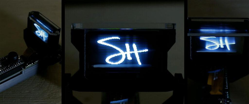 Solid State Volumetric OLED Display by Sean Hodgins