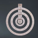 Wooden Hanging Round Spin Perpetual Calendar: It Rotates As Opposed To Flipping