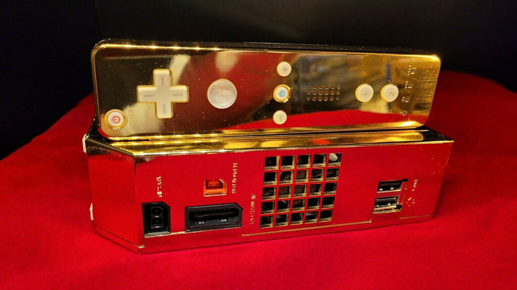 24 Karat Golden Nintendo Wii Console
