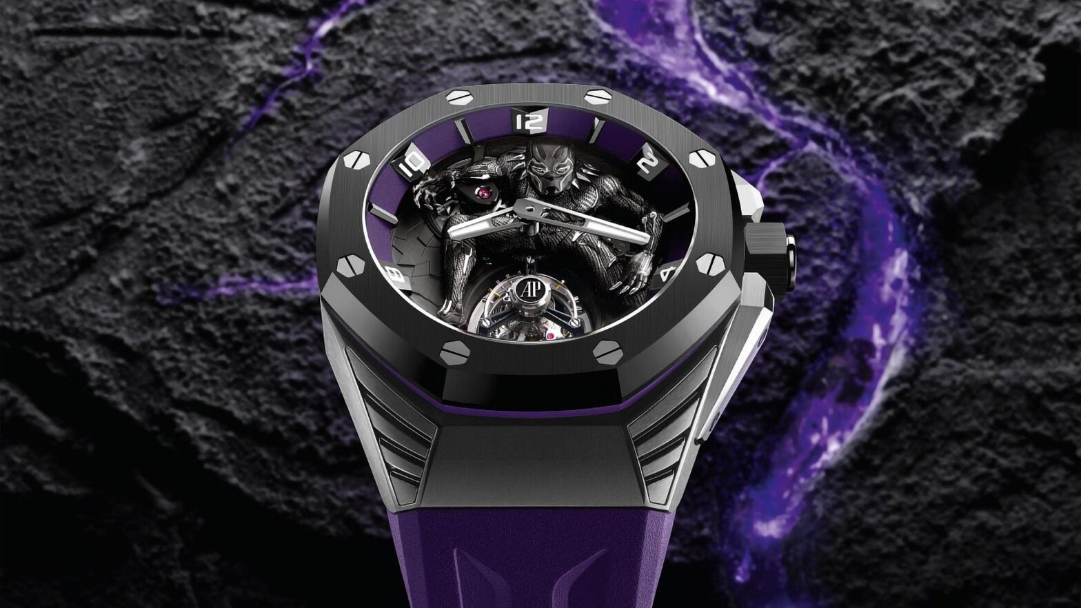 Audemars Piguet x Marvel Royal Oak Concept Black Panther Flying Tourbillon