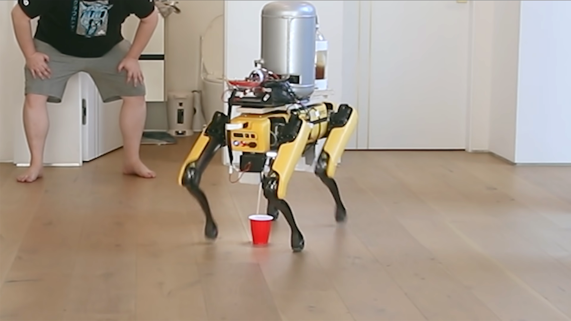 Boston Dynamics Spot Pisses Beer Into Cups