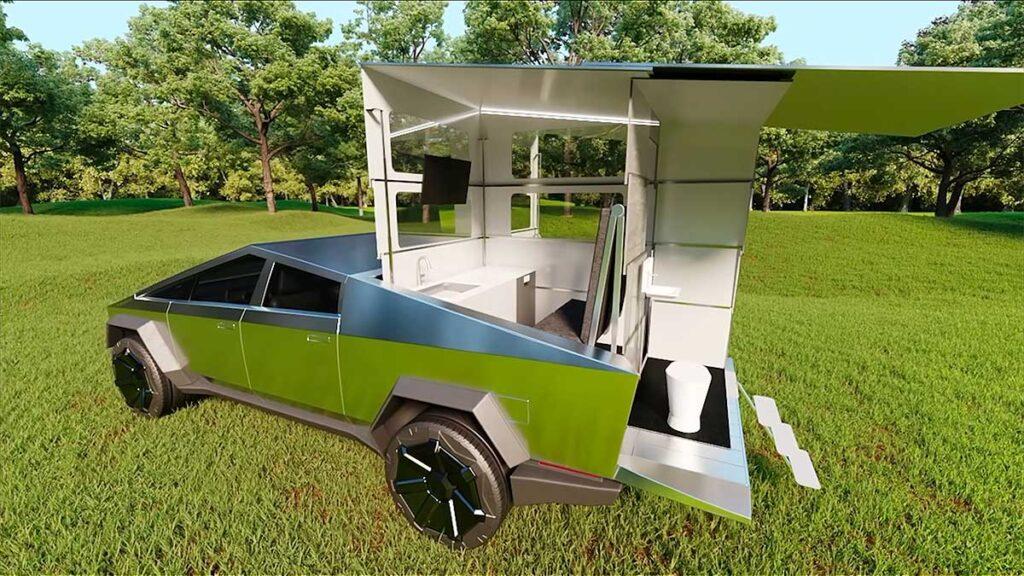 CyberLandr Pop-up Camper for Cybertruck