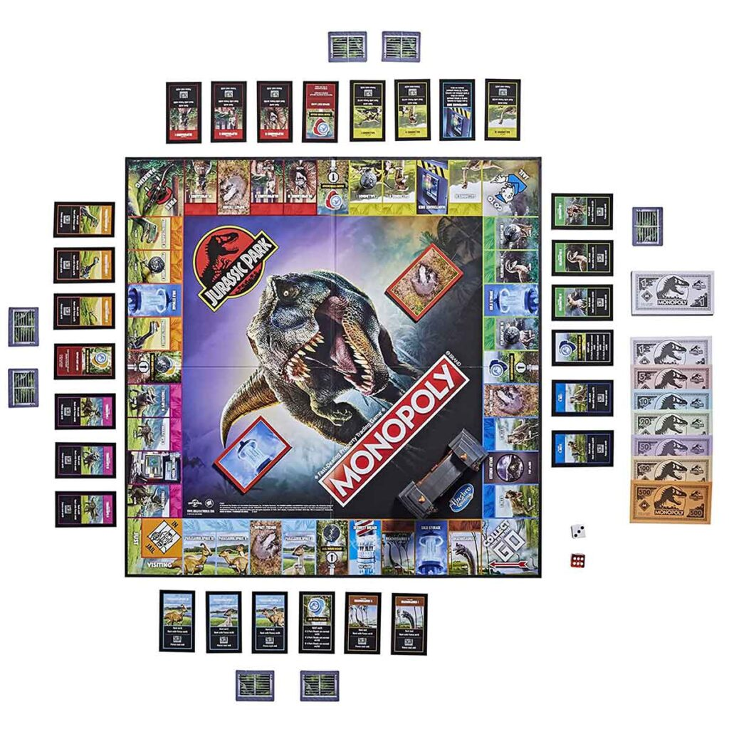 Monopoly Jurassic Park Board Game