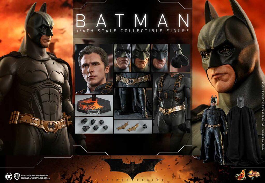 Hot Toys Batman Begins Batman and Batmobile