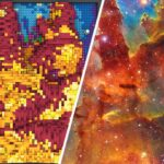 Hubble Space Telescope's Pillars Of Creation Image In LEGO Form