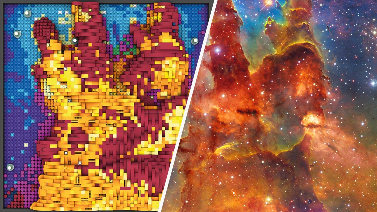 Images From Hubble Space Telescope in LEGO