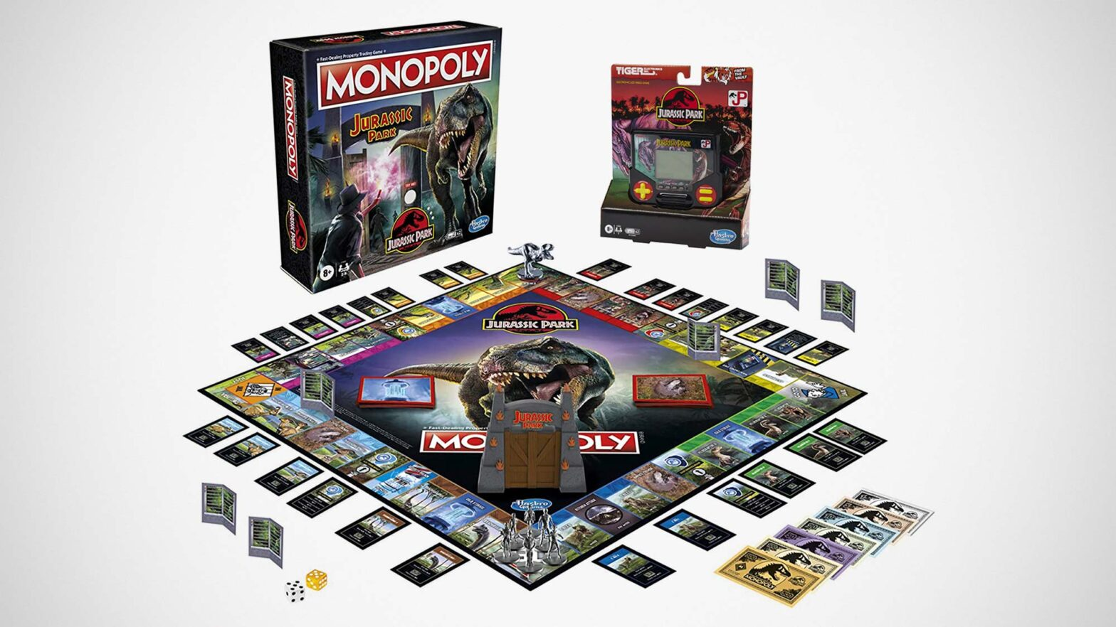 Jurassic Park Monopoly and Tiger Electronics Games