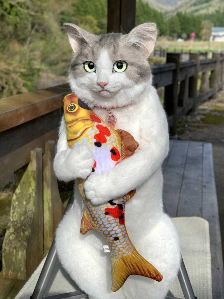 Realistic Cat Backpack by Pico Cat Production