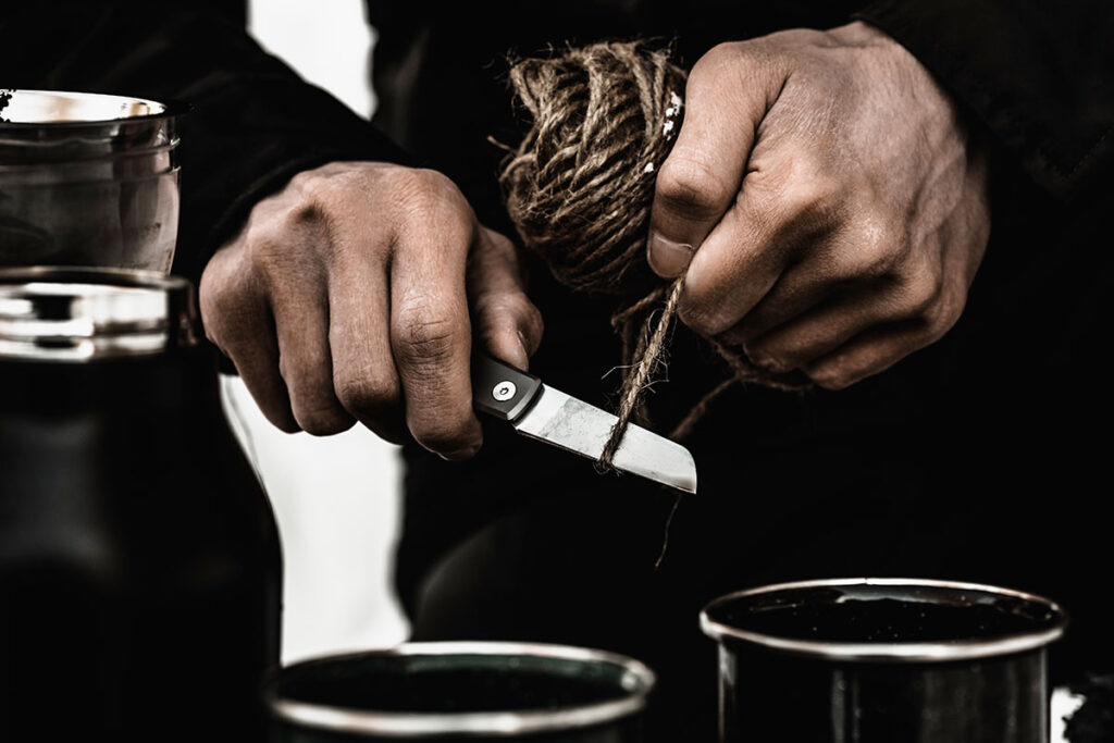 The WESN Samla Friction Folding Pocket Knife