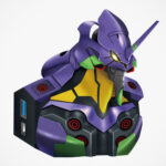 This Small <em>Evangelion</em> Unit-01 Bust Is Actually A USB Hub