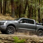 2022 Ford F-150 Lightning Electric Truck Has A Large Frunk That Stores And Powers A Tailgate