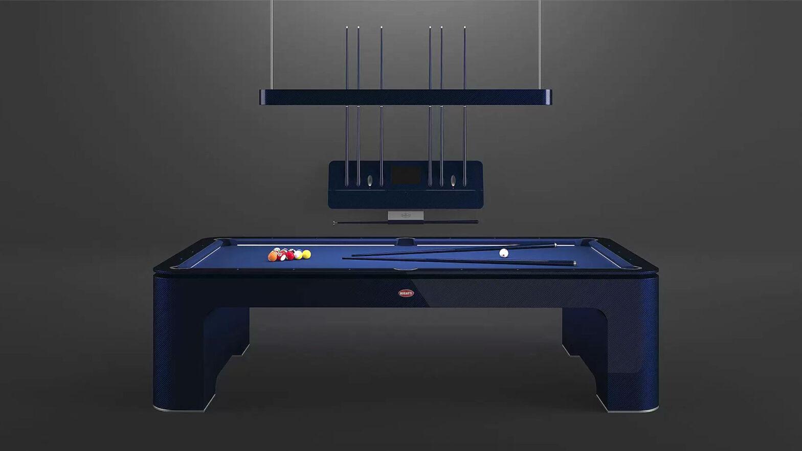 Bugatti Carbon Fiber Pool Table
