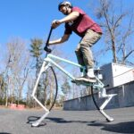 Hopping Bicycle: This Custom Bicycle Has Pogo Sticks Instead Of Wheels