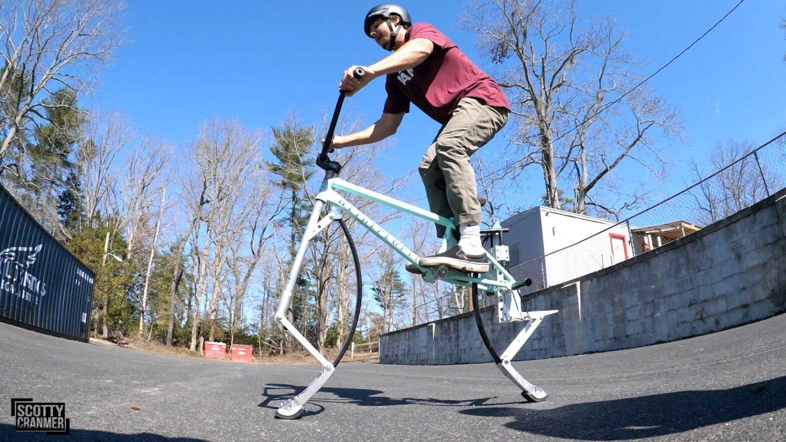 Custom Pogo Bike is A Hopping Bike