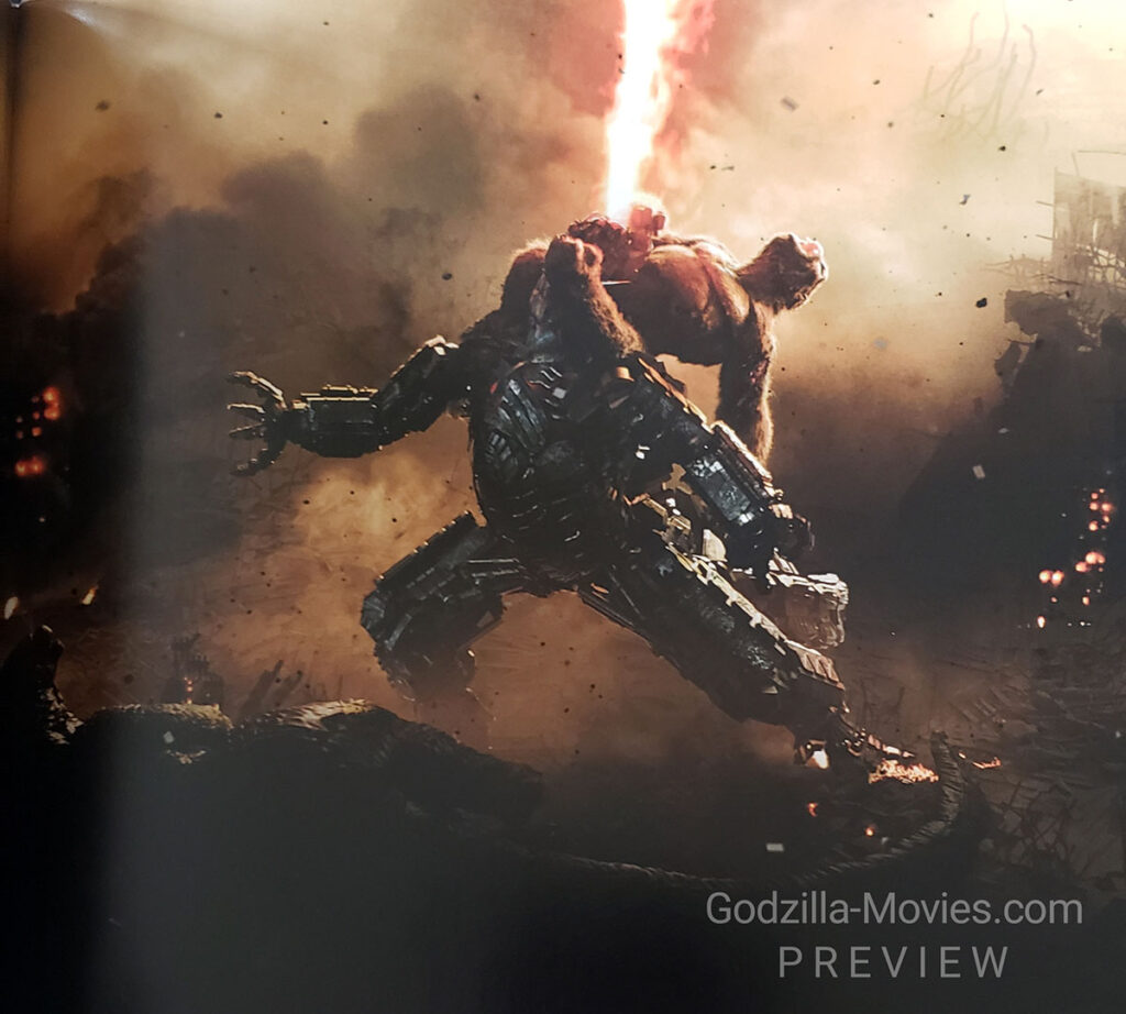 Godzilla vs Kong One Will Fall Official Movie Art Book
