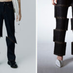 Intentional Fashion Glitch: Jeans Crafted To Look Like The Wearer Is In A Glitchy Video