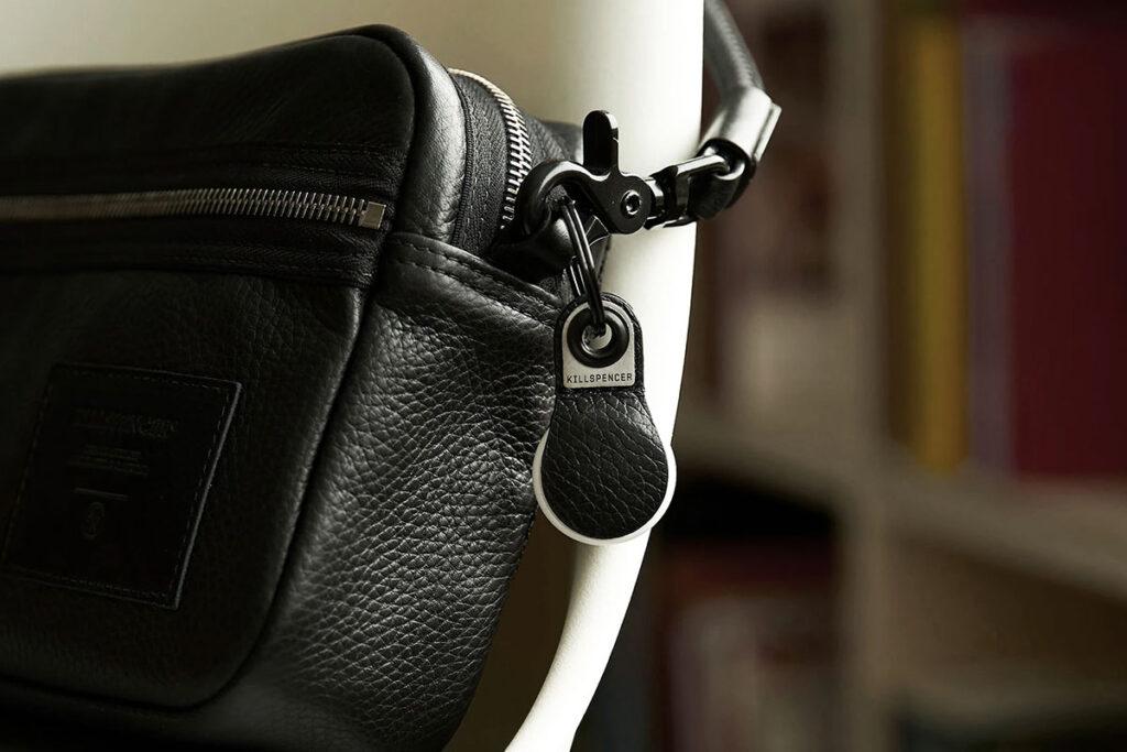 Leather AirTag Keychain by KILLSPENCER