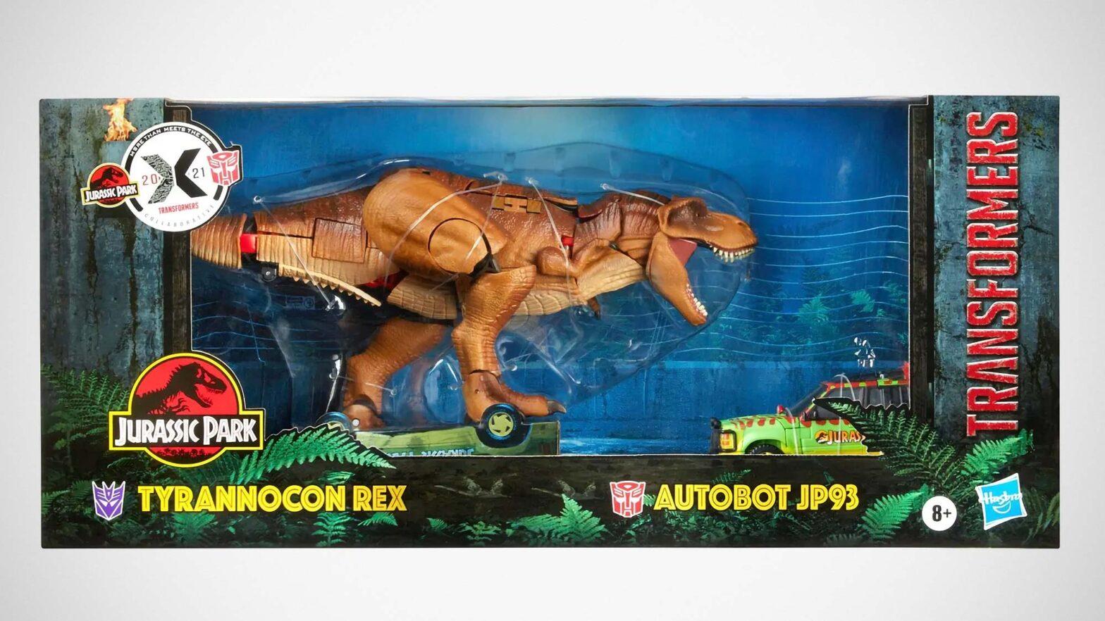 Jurassic Park x Transformers Transforming Action Figure Set