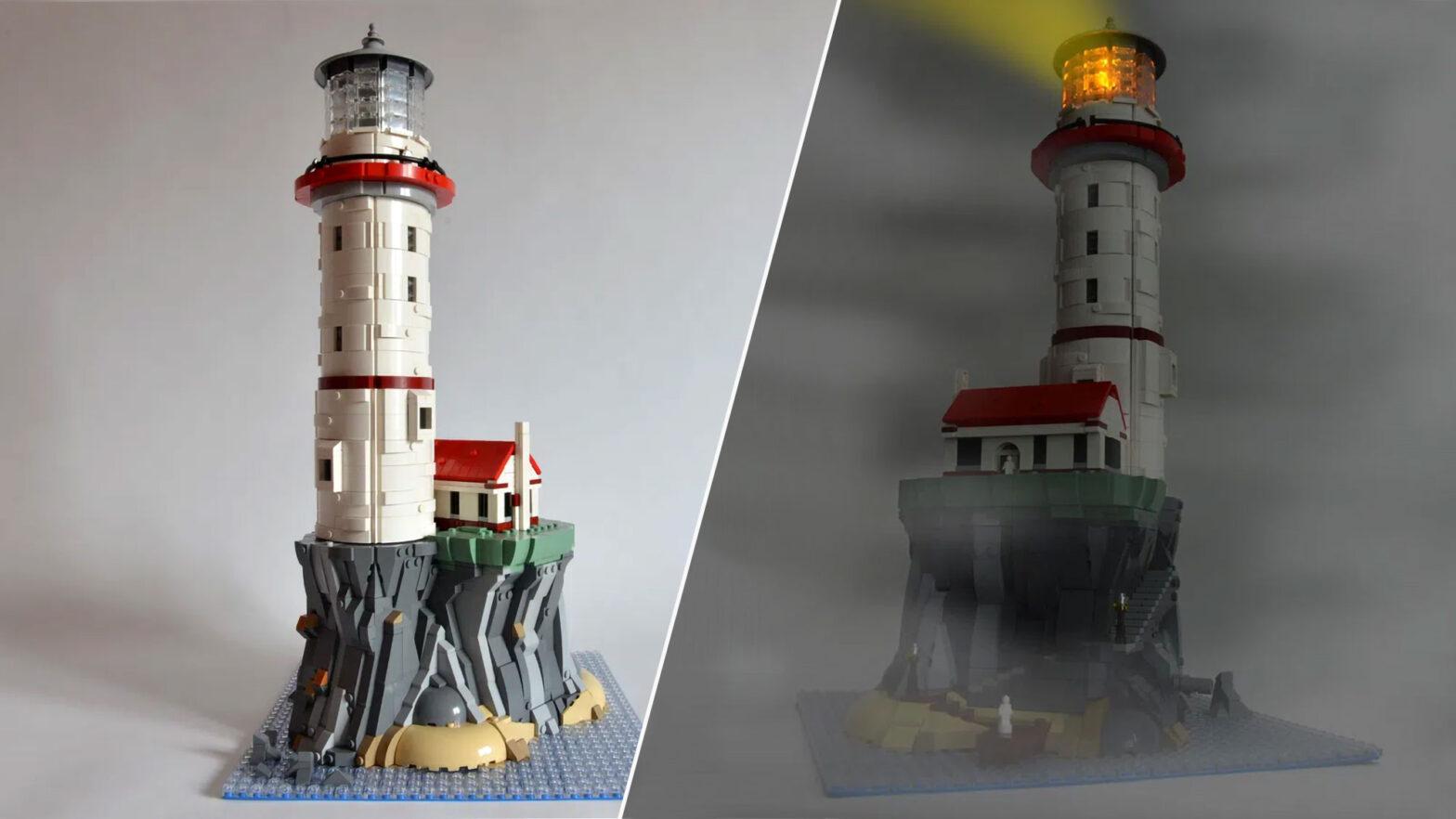 LEGO Ideas Motorized Lighthouse