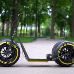 Fat Scooter With Super Fat, F1-style Wheels And Tires Is Beyond Awesome