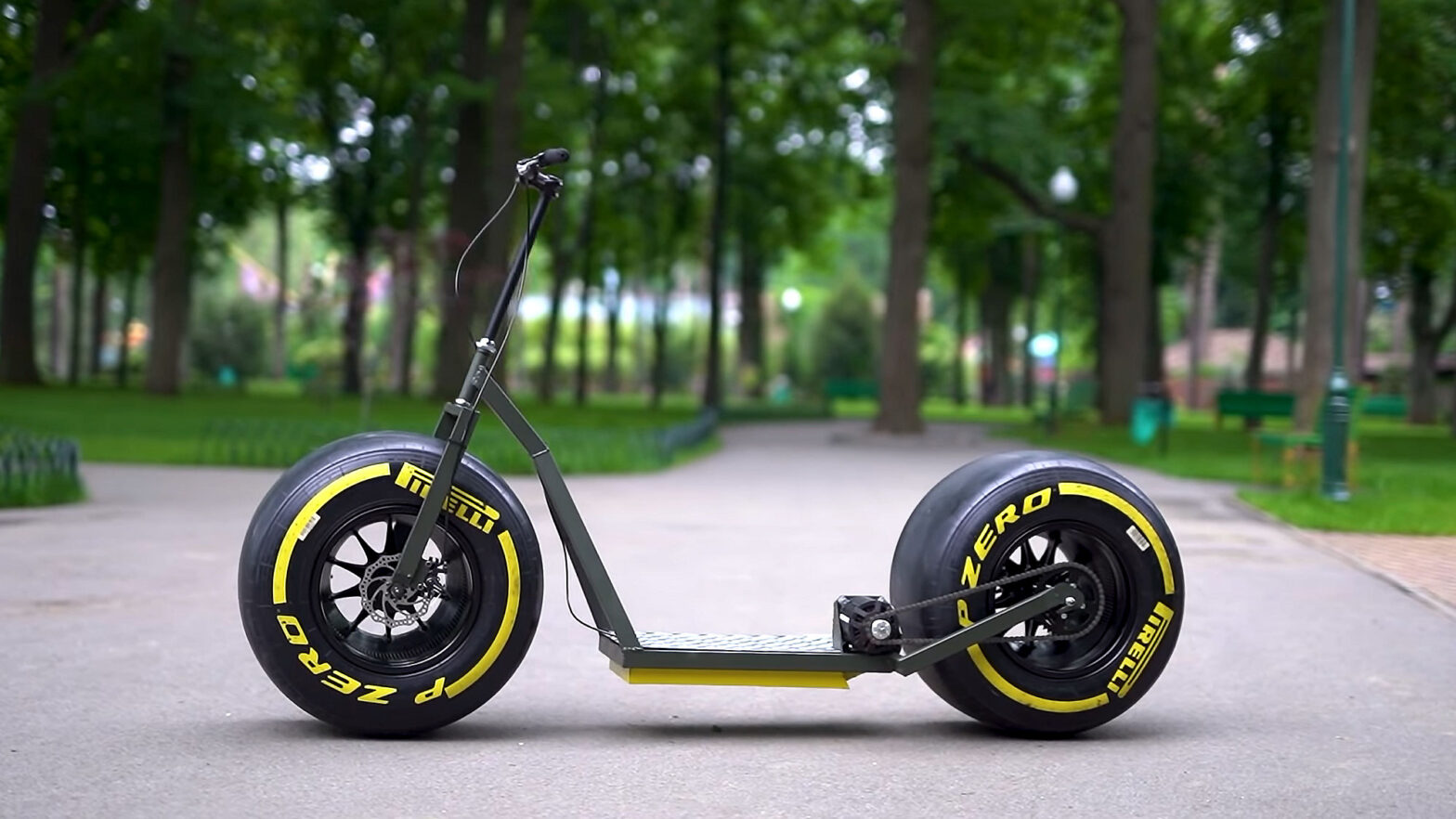 Scooter with Fat F1 Tires by The Q