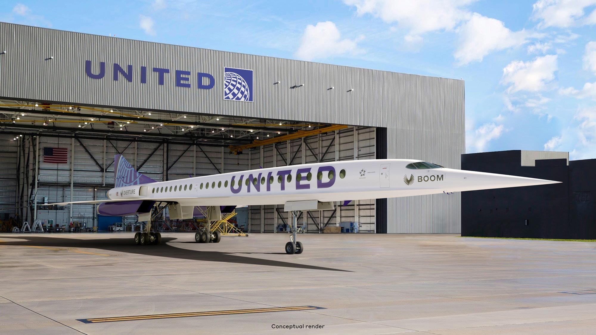 United Airlines Buy Boom Overture Supersonic Jets