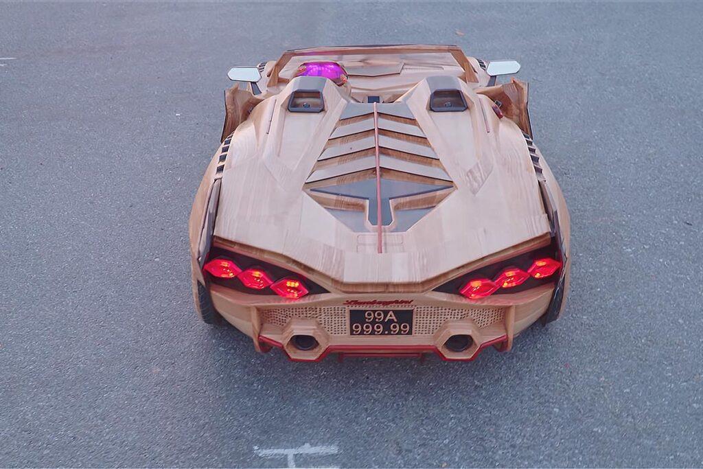 Wood Crafted Lamborghini Sian Kiddie Ride