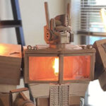 Someone Crafted A 5 Feet Tall Wooden Optimus Prime Lamp