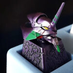 <em>Evangelion</em> Key Cap: Resin-made, Hand-painted Head Sculpt Of Unit-01 Keycap