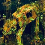 Aquarium With Sunken, Algae-covers AT-AT Aquascape Is A Sight To Behold