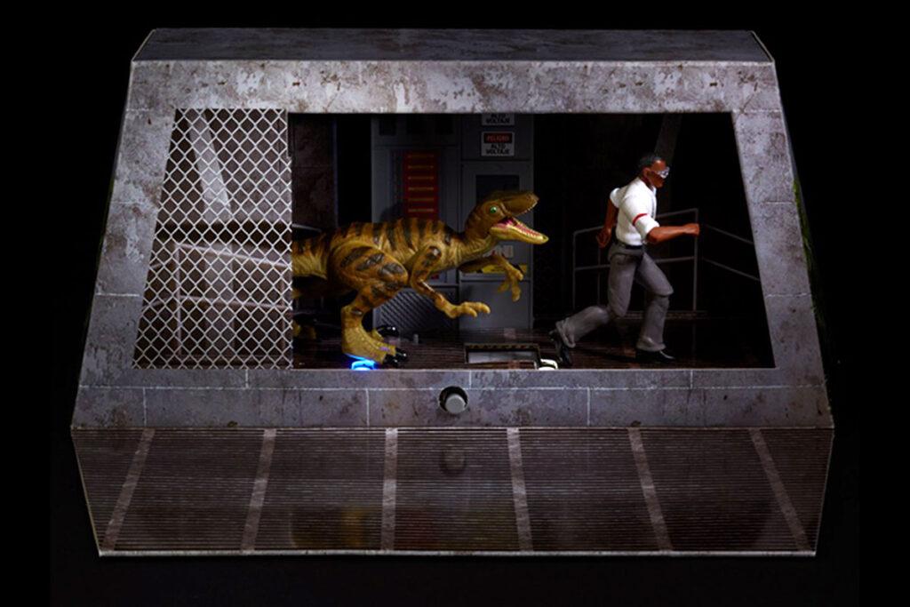 Jurassic Park Final Scene Ray Arnold Action Figure Set