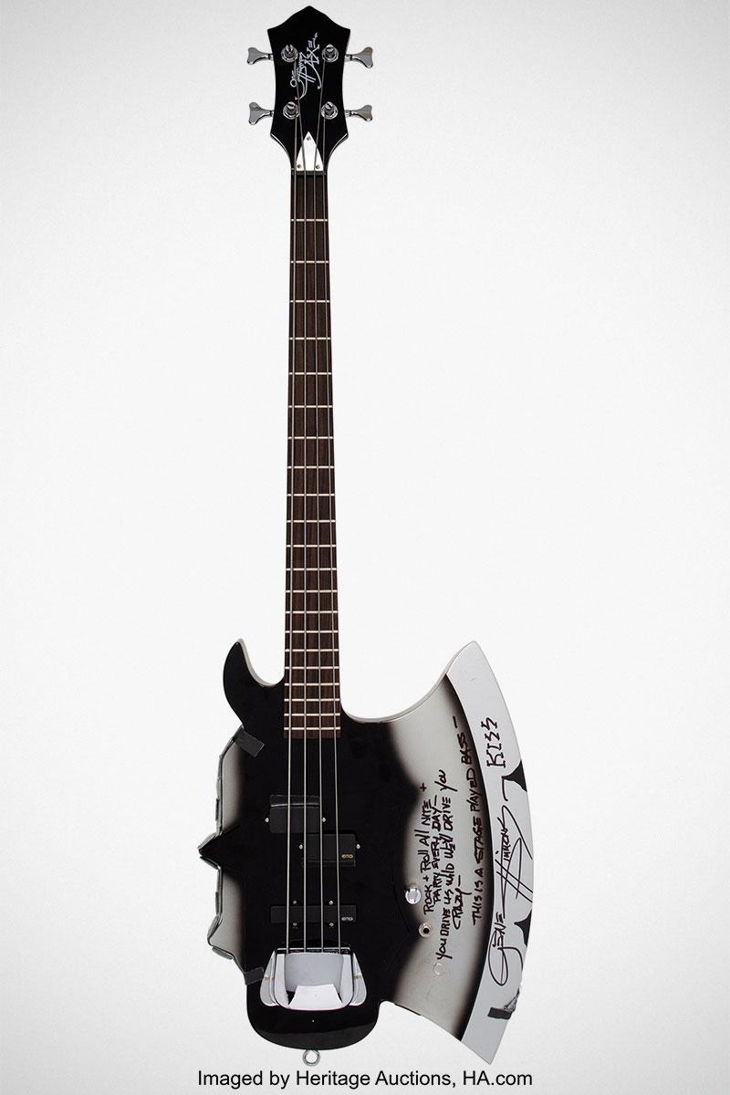 KISS Gene Simmons Custom Axe Bass Guitar