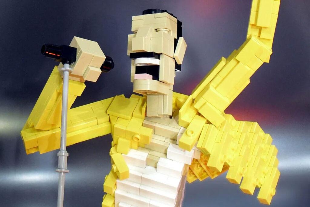 LEGO Freddie Mercury Sculpture by Ochre Jelly