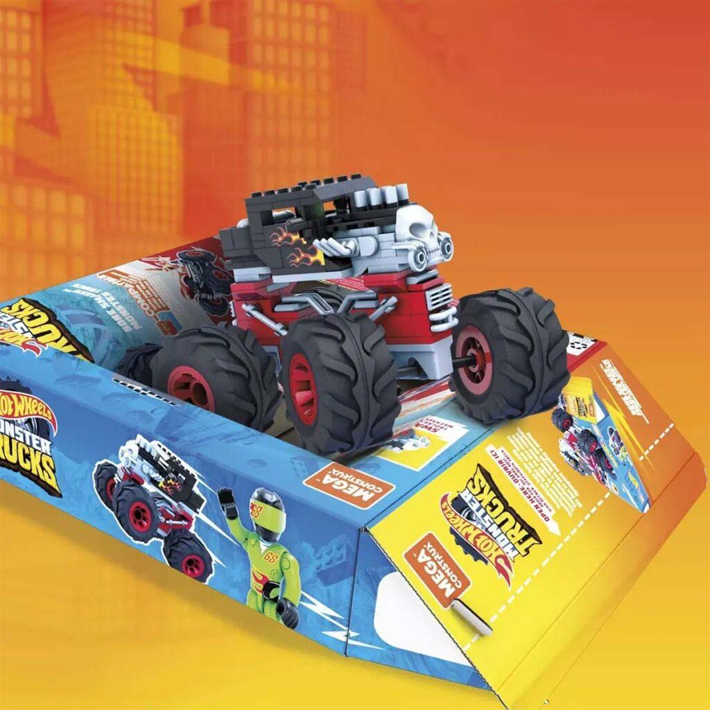 Mega Construx Hot Wheels Bone Shaker Monster Truck Vehicle image