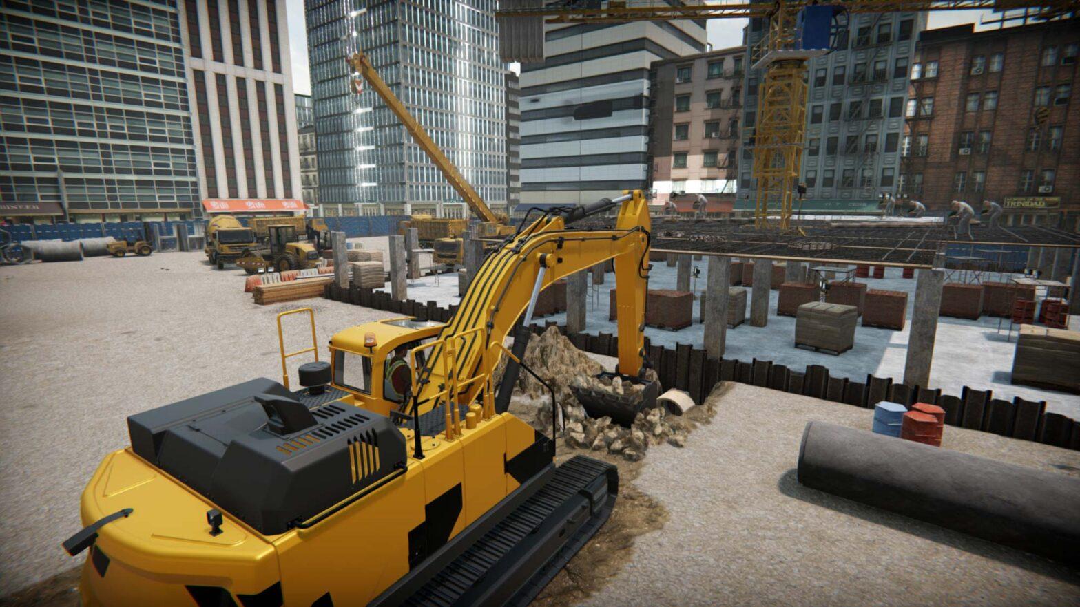 Excavator Simulator Video Game
