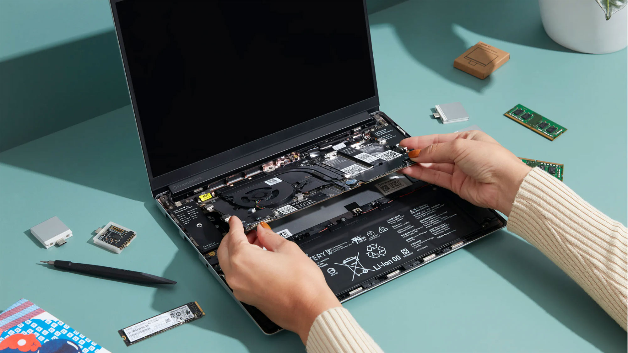 Framework Repairable and Upgradeable Laptop